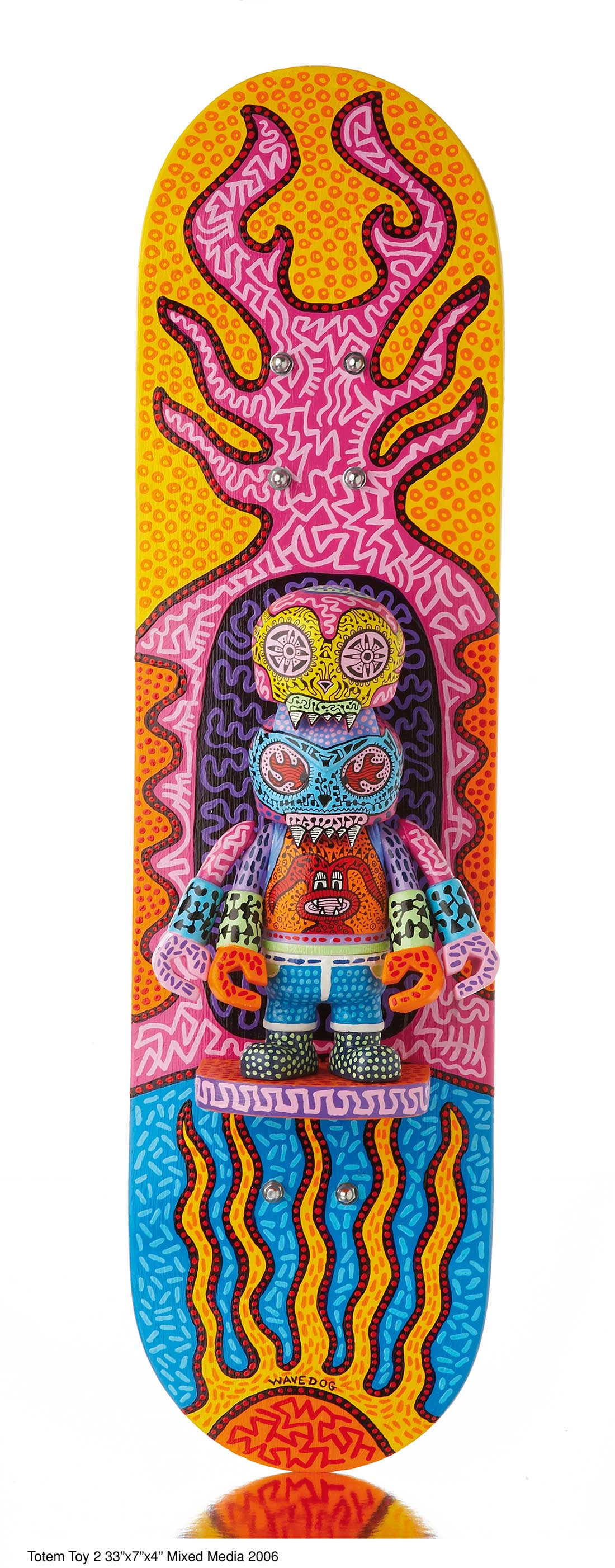 »Totem Toy 2« 33x7x4'' Mixed Media 2006