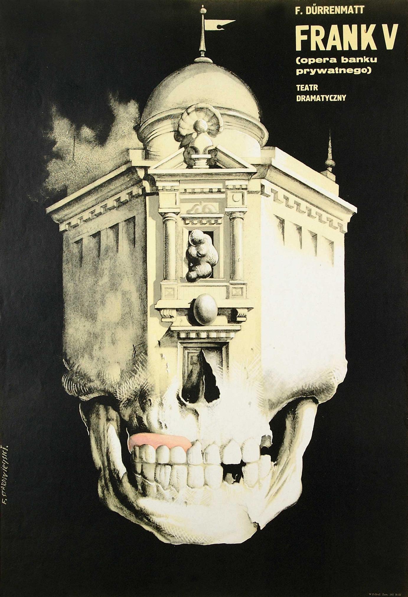 Franciszek Starowieyski Plakat zu Dürrenmatts »Frank der Fünfte« 1962