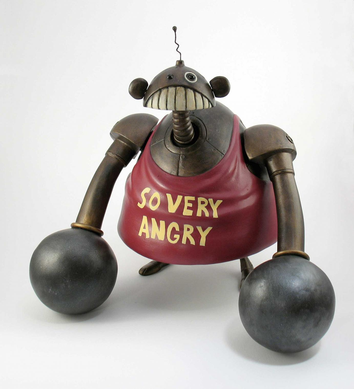 Dave Pressler »Angry Clobber Monkey« 2008 · Spielzeug-Skulptur · Vinyl · 20,3 cm hoch