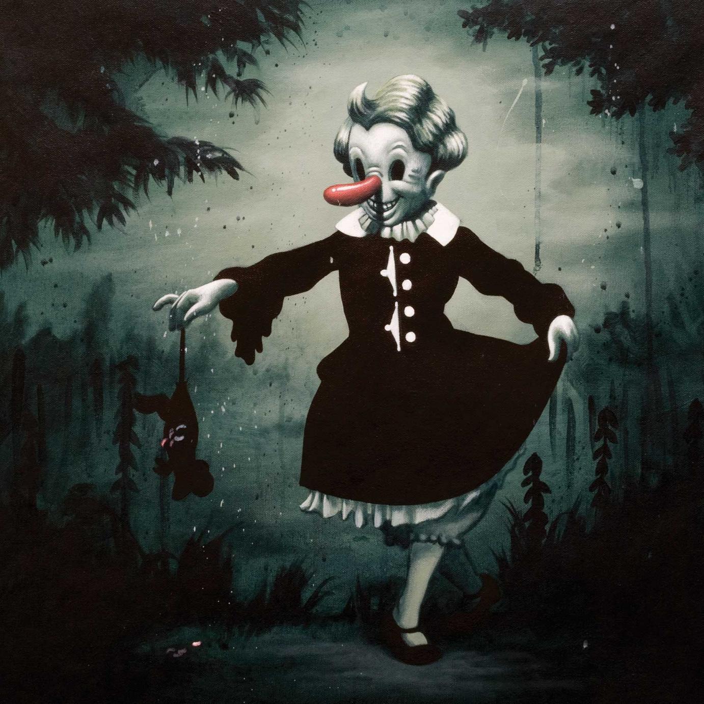 Victor Castillo »Chick Habit« 2007 · Acryl auf Leinwand · 50 cm x 50 cm