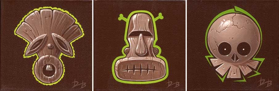 "DAVE BURKE ""Tiki Heads"" | Acryl"