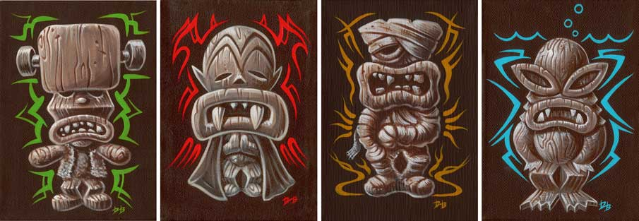 "DAVE BURKE ""Tiki Monsters"" 