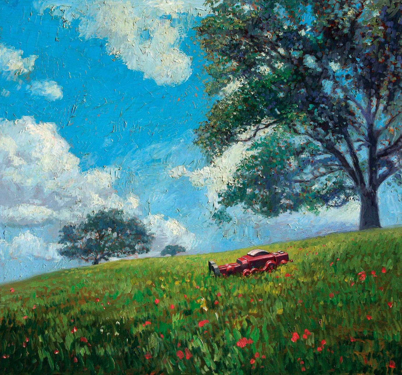 Eric Joyner »False Spring« · 2007 Öl auf Holz 70 cm x 66 cm