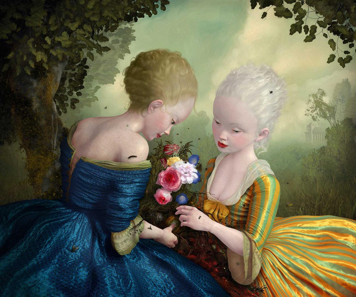 From Such Foulness of Root Does Sweetness Grow • 2009 • digital, Tintenstrahldruck (gefirnist) auf Holztafel · 50,8 x 63,5 cm von Ray Caesar