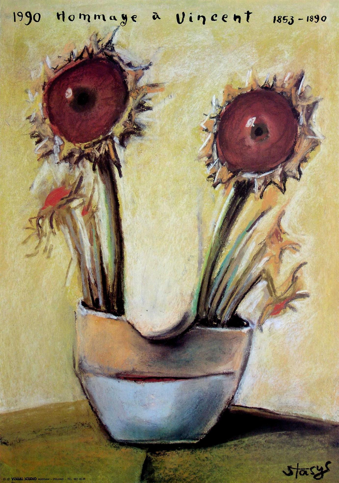 Stasys Eidrigevicius Plakat zum 100. Todestag von Vincent van Gogh 1990