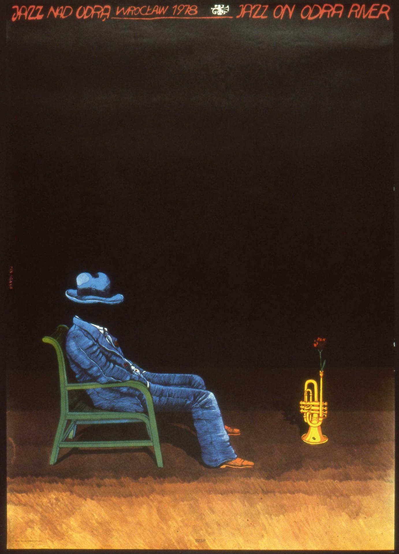 Jan Sawka Plakat zum Jazzfestival »Jazz nad Odra« 1978