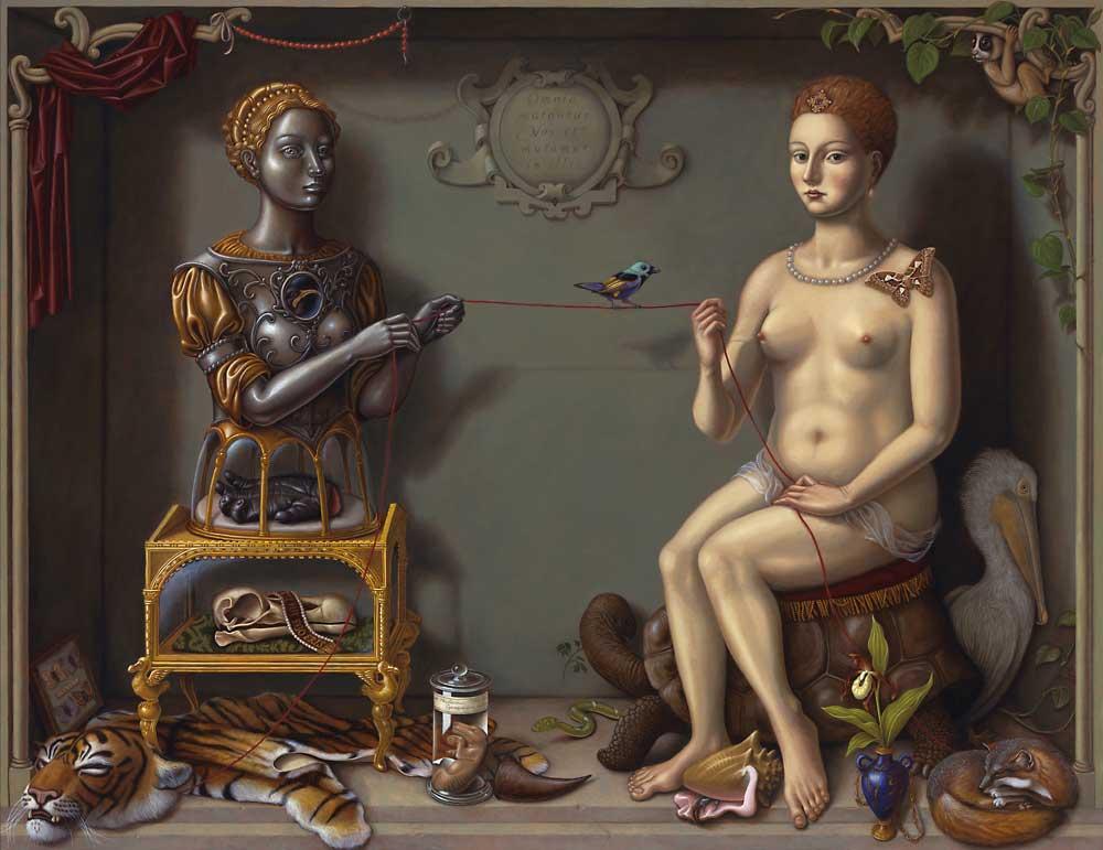 The Red Thread 2010 · Öl und Eitempera auf Holzplatte · 122 x 158 cm von Madeline von Foerster