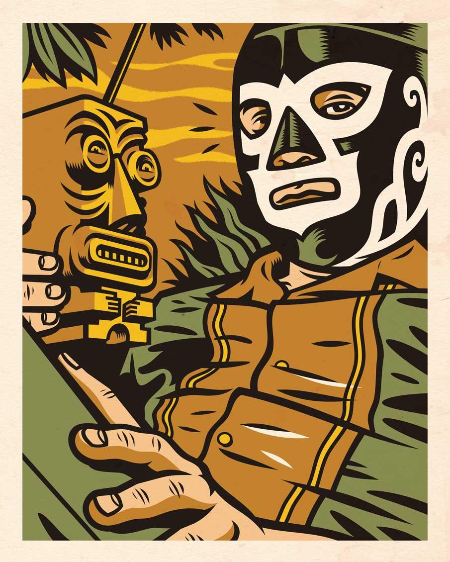 "JORGE ALDERETE ""Acapulco Tiki"" | Serigraphie"