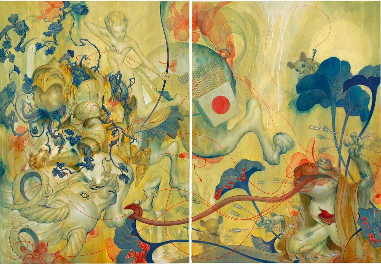 James Jean »Ballad« · 2008 Acryl und Öl auf Büttenkarton 152,4 cm x 104,1 cm