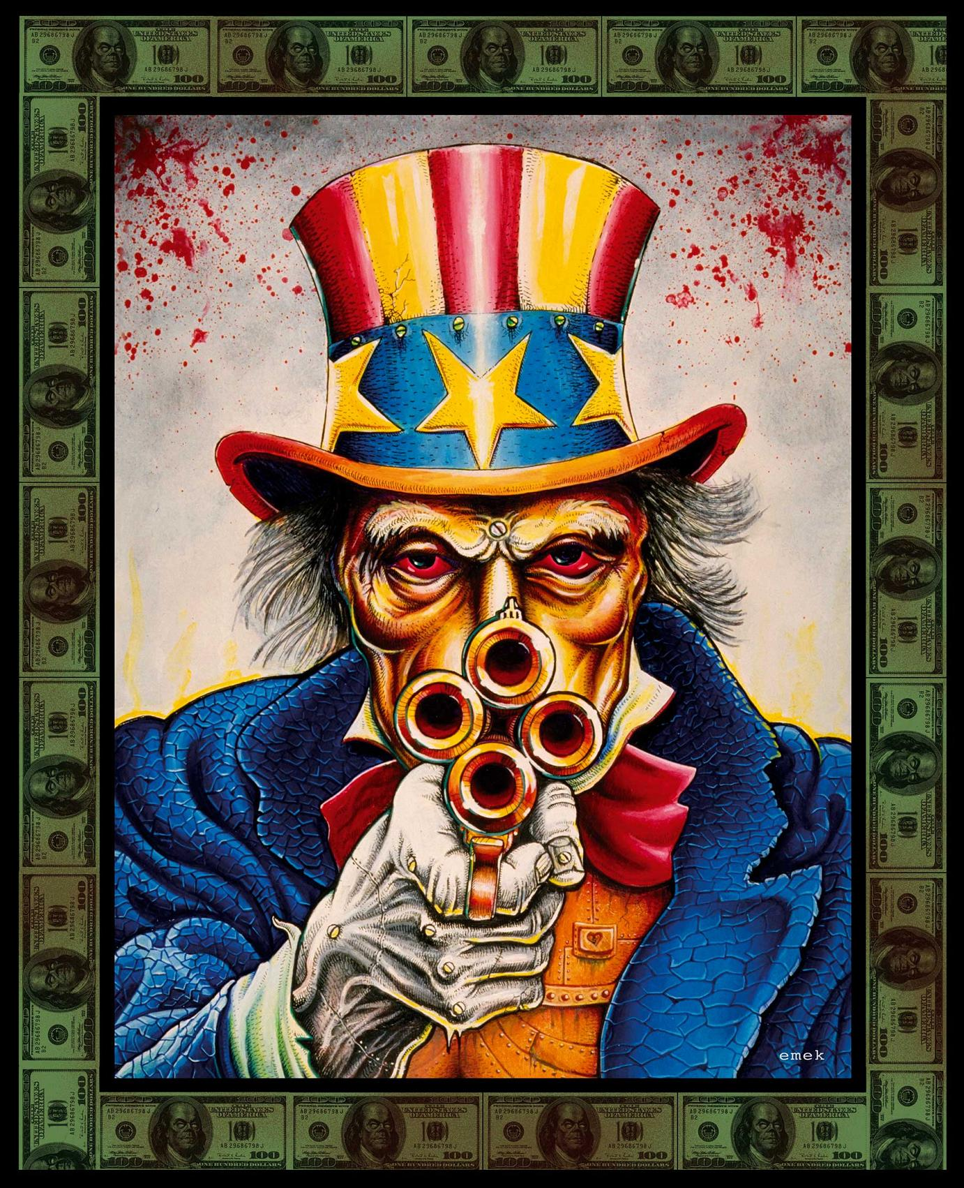 »Uncle Sam« Acryl auf Karton CD & DVD-Cover für Bad Religion