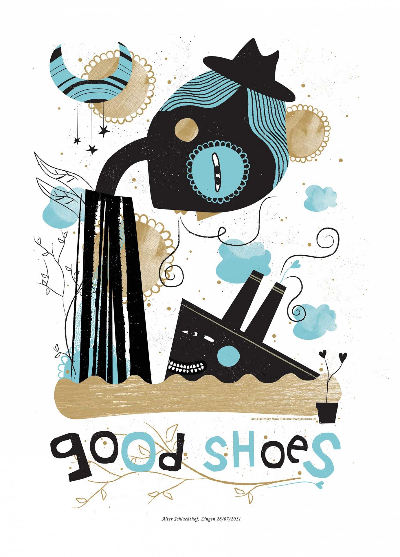 Good Shoes · Lingen 2011 · Siebdruck · 70 x 50 cm · Auflage 75 Exemplare von Mara Piccione