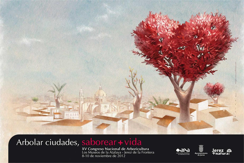 Illustration anlässlich der 15. Nationalen Konferenz für Arboristik. Jerez de la Frontera (Cádiz - Spanien). November 2012.
