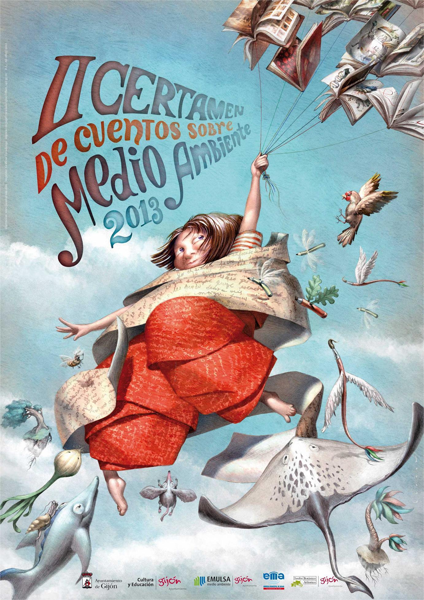 Illustration anlässlich des zweiten Geschichtenwettbewerbs zum Thema »Umwelt«, eine Veranstaltung der Stadtverwaltung von Gijón. November 2012 – Mai 2013.
