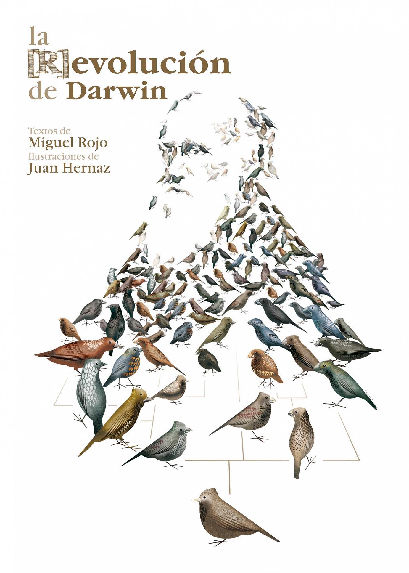 Umschlaggestaltung für das Buch »The [R]evolution of Darwin«, eine Veröffentlichnung des Botanischen Gartens von Gijón in Gedenken an das 200jährige Jubiläum von Charles Darwin. Dezember 2009.