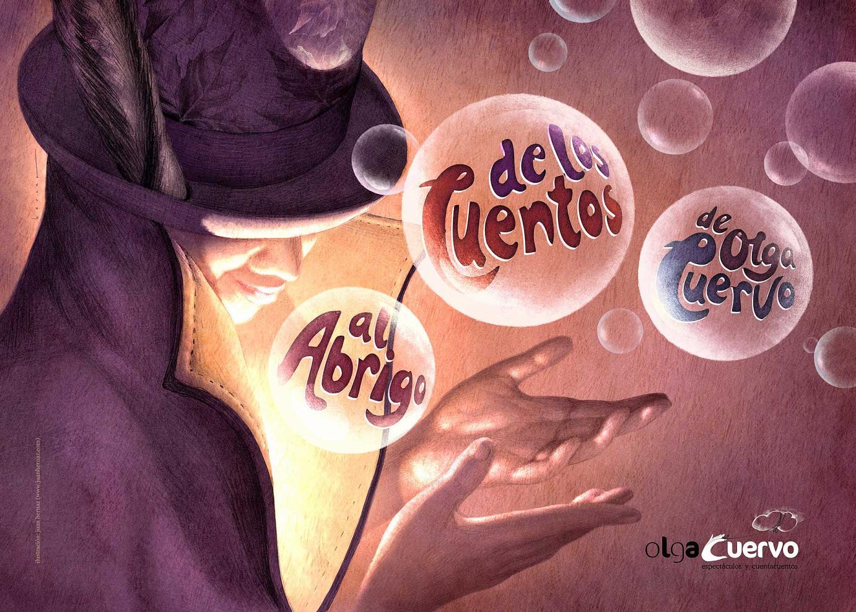 Illustration für die letzte Show von Olga Cuervo, Geschichtenerzählerin, mit dem Titel »Sheltered by the stories«. Herbst, 2012.