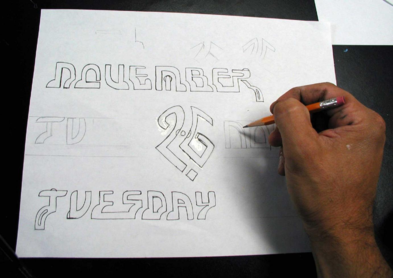 1. Gestalten und zeichnen der Schriftelemente