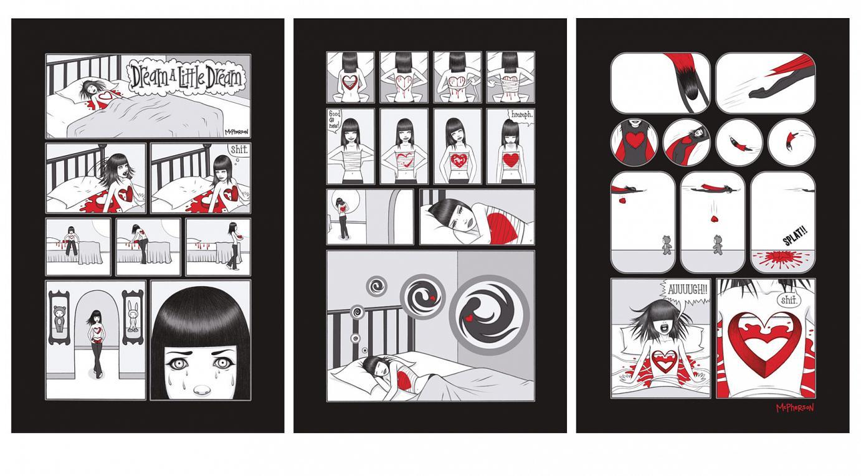 »Dream a little Dream« von Tara McPherson | 18'' x 14'' | 3-teilige Serigraphie mit 7 Farben