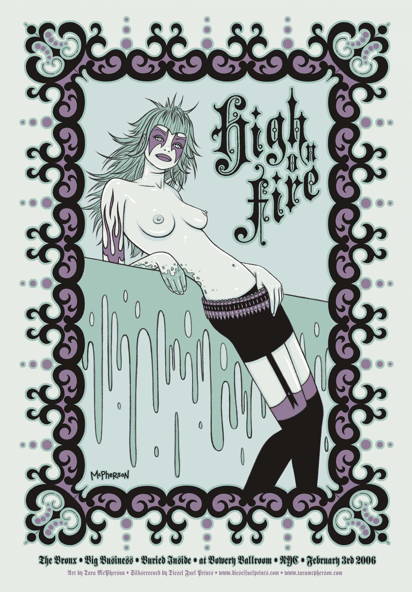 »High on Fire« von Tara McPherson | 5 Color Silkscreen | 40,64 x 58,42cm | Edition of 300 | 2006