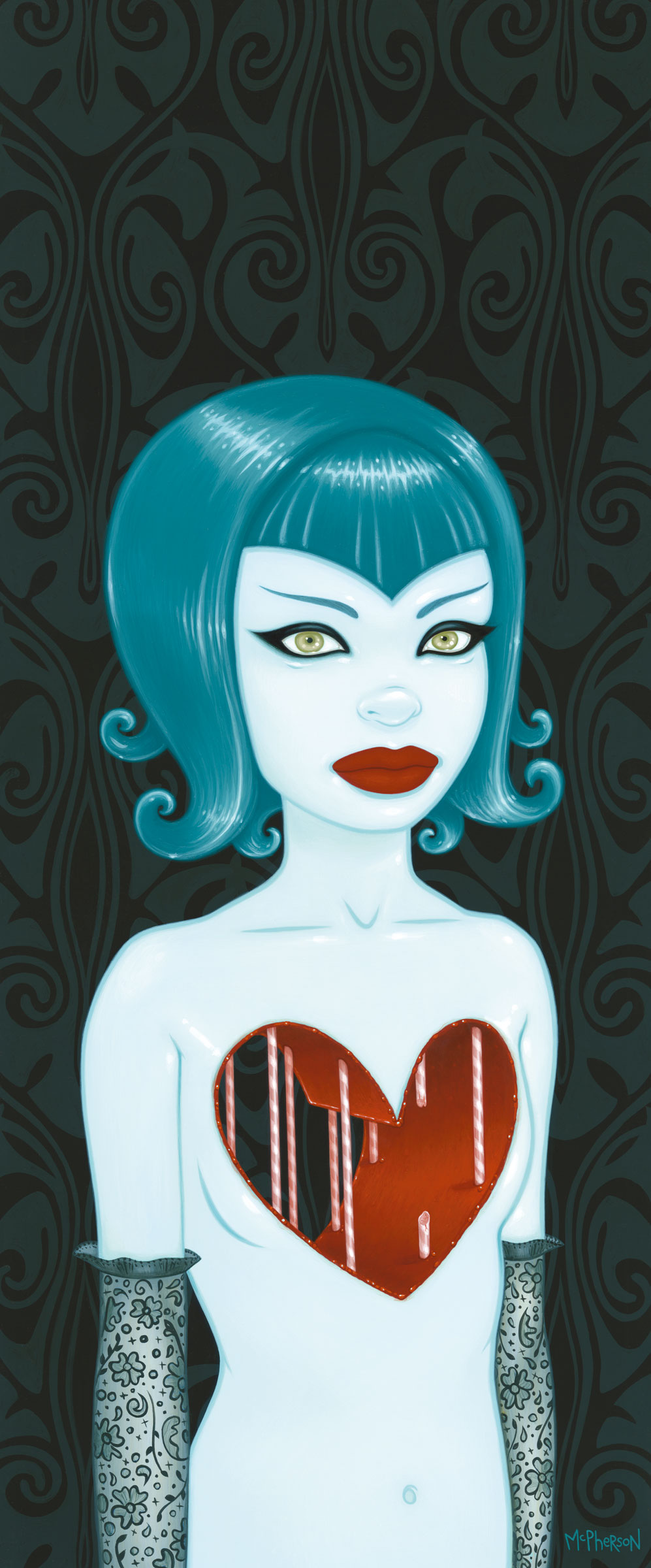»Sometimes I Just Want a Hug« von Tara McPherson | 30,50 x 71,12cm | Acryl