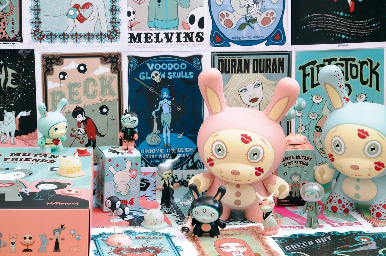 McPherson - Im Bild: Bubble Yucky Dunny (8 Inch, 2007), Dunny Series 4 (3 Inch, 2007), Dunny LA Series (3 Inch, 2006), Gamma Mutant Space Friends (3 Inch, 2009)