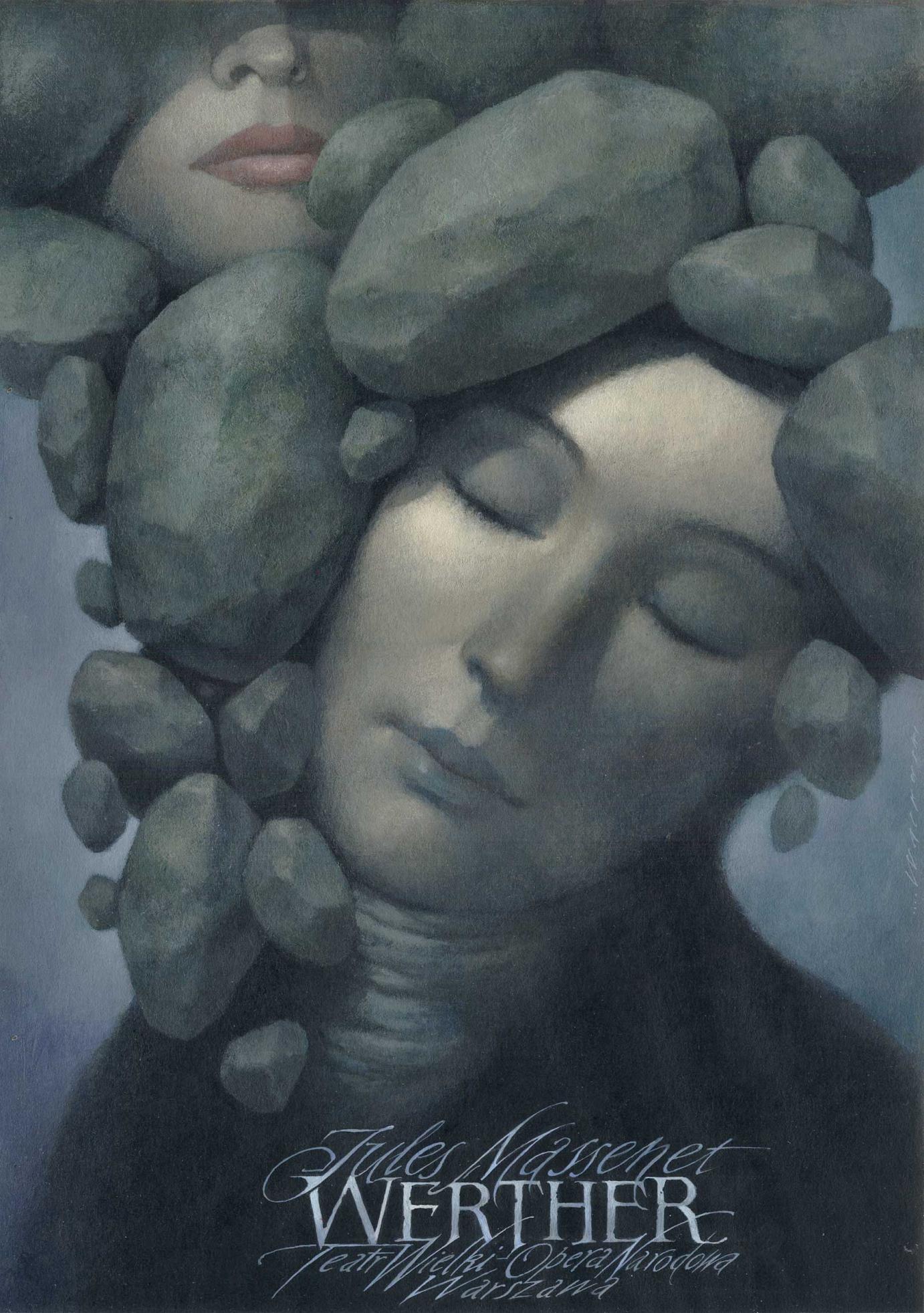 Wieslaw Walkuski · Plakat zur Jules Massenets Oper »Werther« · 1994